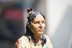 Indian miniature portrait. Close up of an Indian miniature sculpture Royalty Free Stock Photo