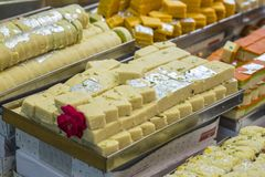 Indian mix sweets. Food at sweet shop Stock Photography
