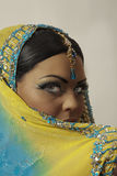 Indian model. With make up shot in the studio Stock Photography