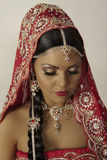 Indian model. Portrait close up face Royalty Free Stock Photo