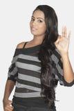 Indian model posse stduio white background Royalty Free Stock Photography