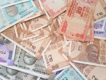 Indian money and banknotes rupees, money are from the major world countries using as Forex or financial economy.. Indian money banknotes rupees major world stock photos