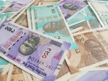Indian money and banknotes rupees, money are from the major world countries using as Forex or financial economy.. Indian money banknotes rupees major world royalty free stock images