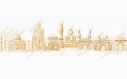 Indian Monment. Painting style illustration of Indian Monment Royalty Free Stock Photos