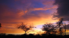 Indian Monsoon. The sunset sky in the start of monsoon season in India is very beautiful Stock Image
