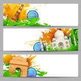 Indian Monument Banner Stock Photos