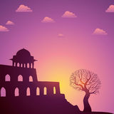 Indian monuments  on sunset Royalty Free Stock Images