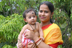 Indian Mother & Child Royalty Free Stock Photography