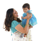 Indian mother and daughter Royalty Free Stock Images