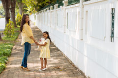 Indian mother and daughter Stock Photography