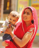 Indian mother with her child Stock Images