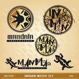 Indian motif set Royalty Free Stock Images