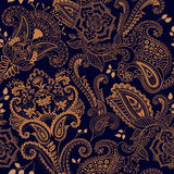 Indian motive. Ethnic ornamental wallpaper. Big decorative flowers. Colorful ethnic backdrop Stock Images