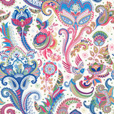 Indian motive. Ethnic ornamental wallpaper. Big decorative flowers. Floral backdrop. Indian motive. Ethnic ornamental wallpaper. Big decorative flowers Royalty Free Stock Photos