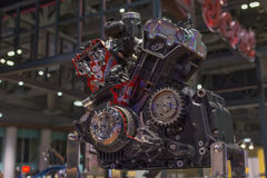Indian motocycle engine Stock Images