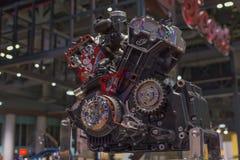 Indian motocycle engine Stock Images
