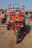 Indian motor rickshaw. Frontal view of a motor rickshaw at the Gujrat state of India Royalty Free Stock Image