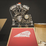 Indian motorbike engine on display at EICMA 2014 in Milan, Italy Stock Photography