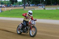 Indian motorcycle. Classic Indian motorcycle races in the vintage bike race stock photos