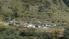 Indian Mountain Village Royalty Free Stock Photography