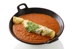 Indian murg patiala served with curry sauces Stock Photography