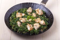 Indian murgh palak Stock Image