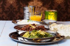 Indian murgh palak Royalty Free Stock Photo