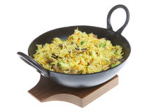 Indian Mushroom Fried Rice Stock Photo