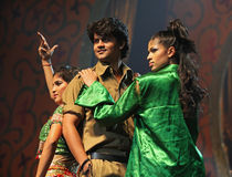Indian Music and Dance Show. BEIJING – JANUARY 31: The Indian Bollywood Film Star Song and Dance Troupe perform on stage during Indian Music and Dance Show at Stock Photography