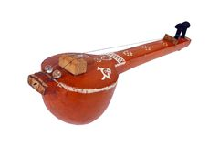 Indian Music instrument. Indian classical string instrument 'Tambura' with clipping path Stock Images