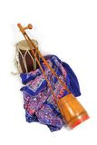 Indian music instruments. As drum and El Tara -one string Royalty Free Stock Images