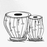 Indian musical instrument tabla. Royalty Free Stock Photos