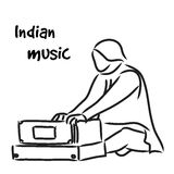 Indian musician playing harmonium Royalty Free Stock Images
