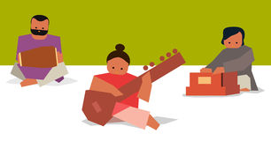 Indian musician set Royalty Free Stock Image