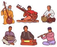Indian musician set Stock Photos