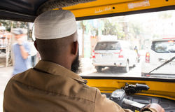 Indian Muslim Auto Rickshaw Driver Stock Images