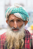 Indian muslim man in the street market in Srinagar, Kashmir. India Stock Images