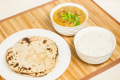 Indian Mutton Curry Meal Stock Image
