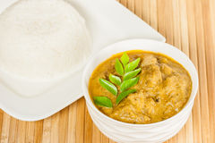 Indian Mutton Curry and Rice Stock Images