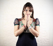 Indian namaste pose Stock Photography