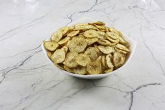 INDIAN NAMKEEN BANANA CHIPS SALTY royalty free stock images