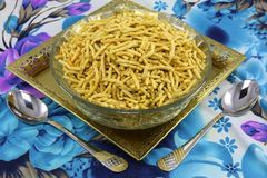SPICEY RATLAMI SEV NAMKEEN SNACKS FRIED stock photography