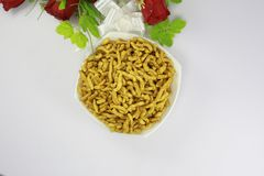 INDIAN NAMKEEN SNACKS GATHIYA BESAN stock image
