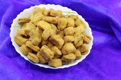 INDIAN NAMKEEN SNACKS GATHIYA BESAN royalty free stock photo