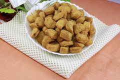 INDIAN NAMKEEN SNACKS GATHIYA BESAN stock photos