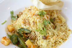 Indian Nasi Briyani Rice Dish Closeup Stock Photography