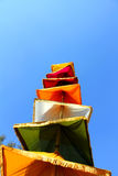 Indian nationa tricolors cloths on stick Royalty Free Stock Photography