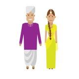 Indian national dress. Illustration of national costume on white background Stock Photos