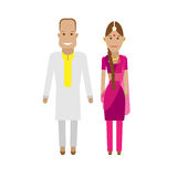 Indian national dress royalty free illustration