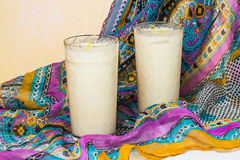 Indian national drink lassi with yogurt and spices Royalty Free Stock Photos